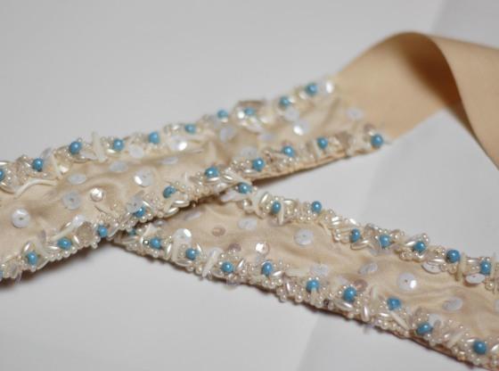 wedding sash hand embroidered