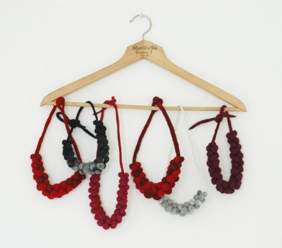 handmade felt jewellery
