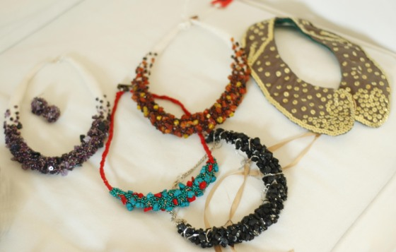 statement woolly accessories and jewelry