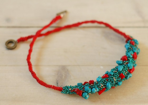 Christmas gifts shiny turquoise bold necklace