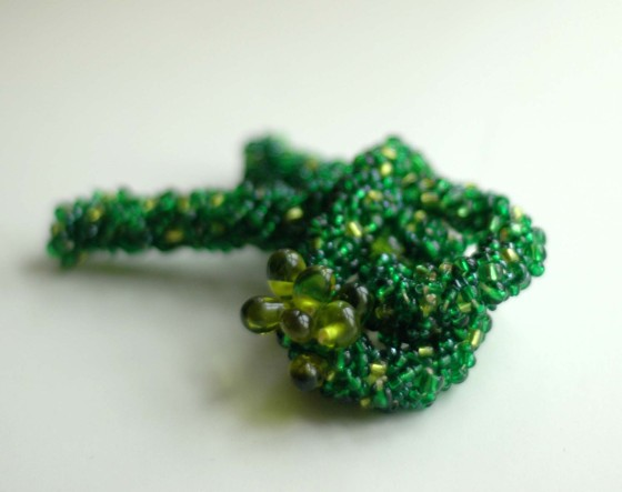 emerald green embroidered beaded brooch bold accessories