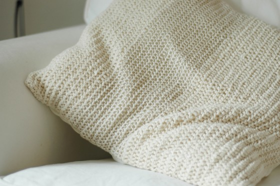 handmade crochet pillow case