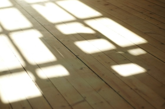 wooden floor shadow