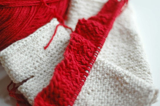brick red knitting cotton yarn
