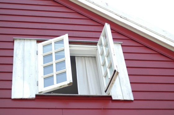 red window Scandinavia house