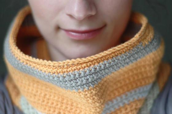 orange crochet neck warmer cowl handmade accessories etsy