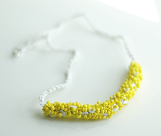 yellow beads necklace jewellery