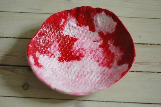 handmade clay bowl