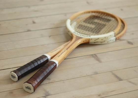 vintage tennis racket slazenger
