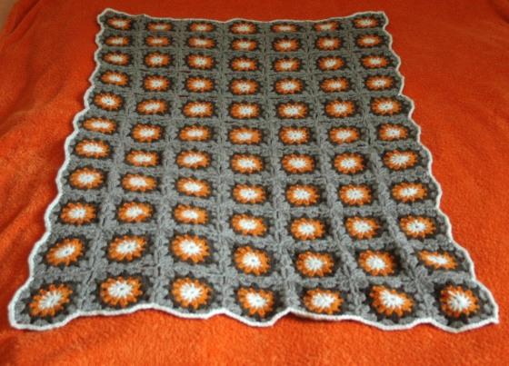 handmade crochet blanket granny squares
