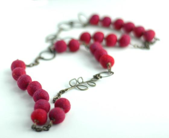 felt necklace handmade jewelry