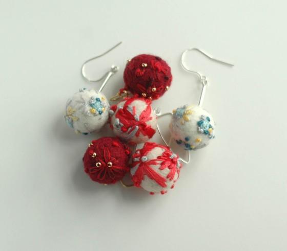 felt handmade earrings