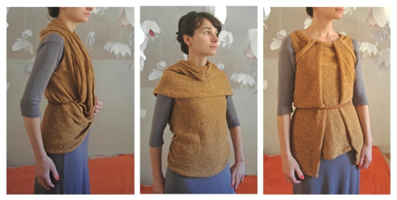 knitted vest top shawl shrug infinity loop