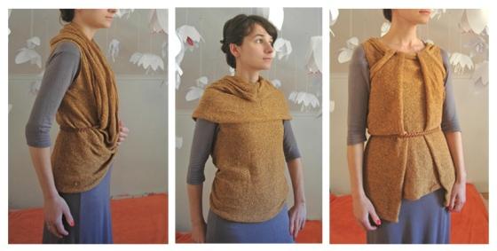 knitted vest top shawl shrug infinity loop