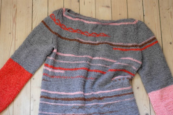 handknitted sweater pullover