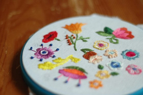 handmade embroidery flowers