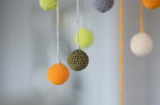 crochet nursery mobile
