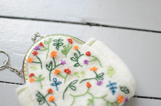 handmade embroidery coin purse